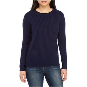 Kim Rogers Navy Cableknit Sweater